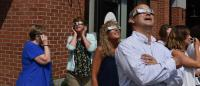 Our Team Gathers To View Historical Solar Eclipse